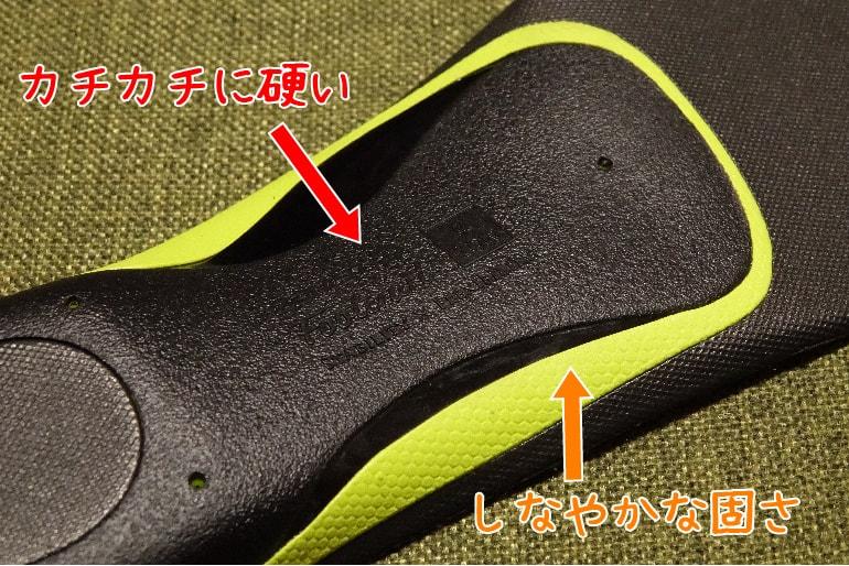 ZAMST Footcraft ロータイプの裏側の素材の違い