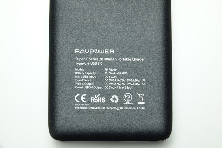 RAVPower 20100mAh Type-Cの購入レビュー8