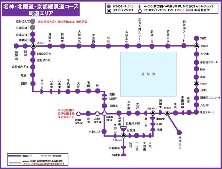 名神・北陸道・京都縦貫道コース
