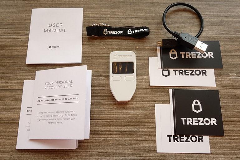 TREZORの内容物の一覧