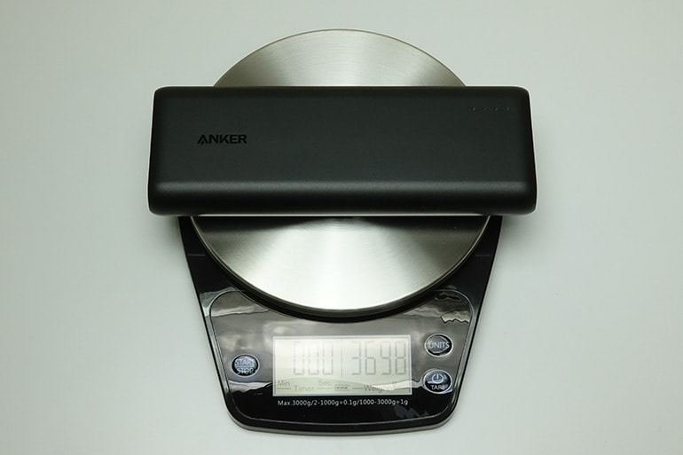 Anker PowerCore Speed 20000の重さ