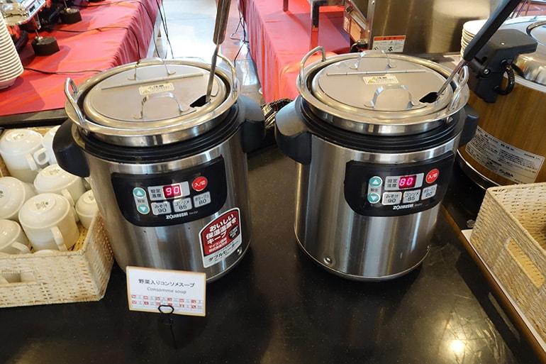 アパホテル肥後橋のレストラン「ラ・ベランダ」の料理(スープ)