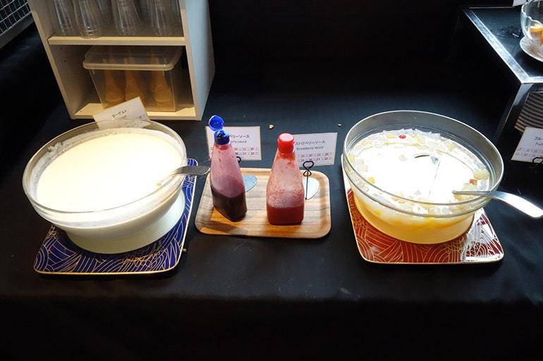 アパホテル肥後橋のレストラン「ラ・ベランダ」の料理(デザート)