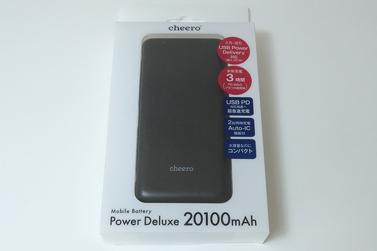 cheero Power Deluxe 20100の外箱