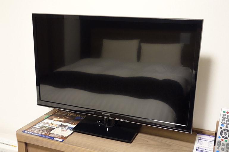 ドーミーインPREMIUM名古屋栄の客室のテレビ