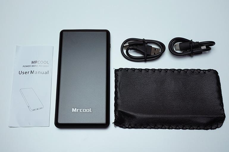 MRCOOLモバイルバッテリー10000mAhの内容物
