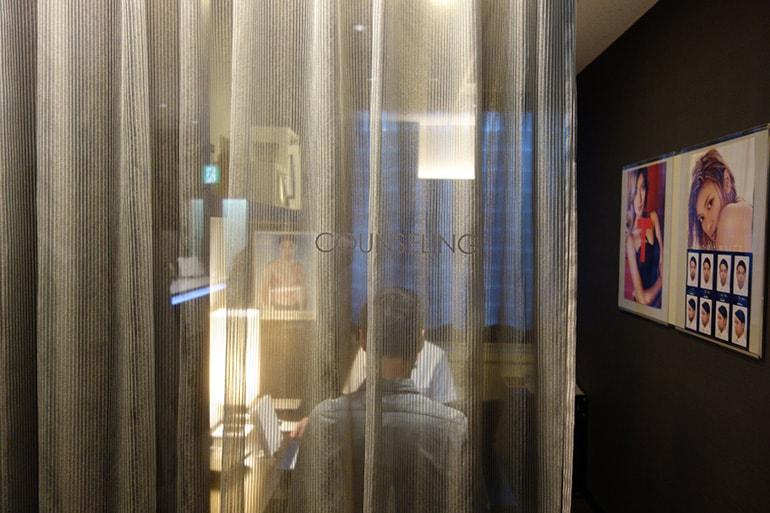 メンズTBC名古屋本店のカウンセリングルーム