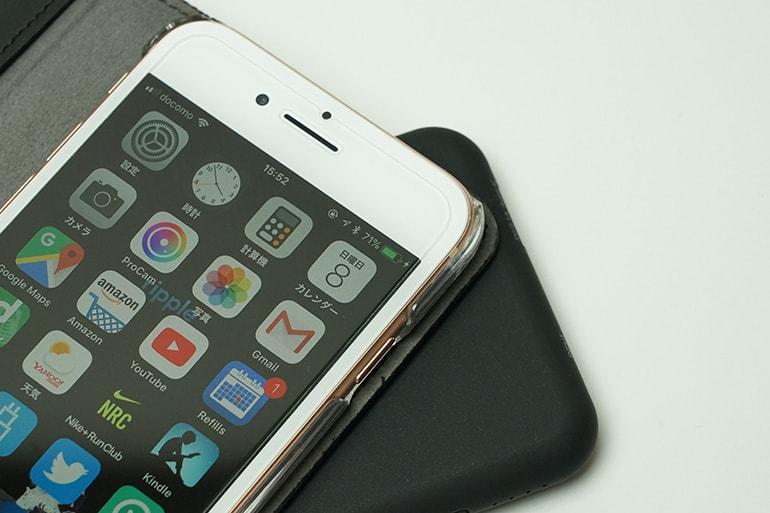 cheeropowermixでiPhone8をワイヤレス充電している所