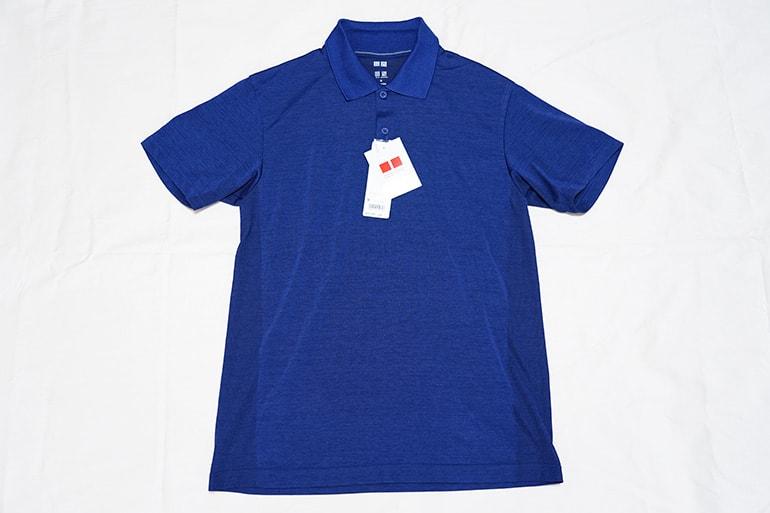 ユニクロのドライEXポロシャツの正面