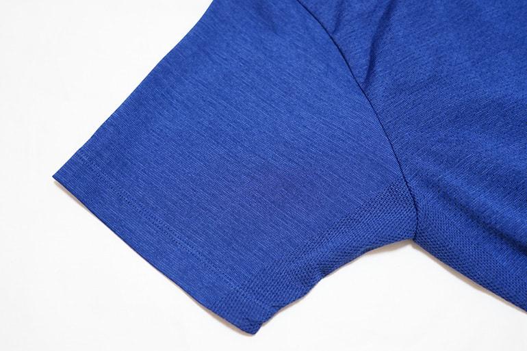 ユニクロのドライEXポロシャツの袖部分