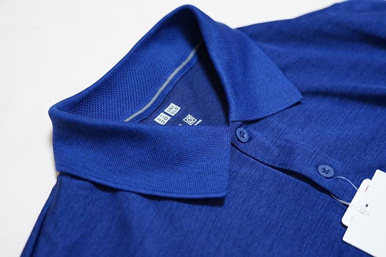 ユニクロのドライEXポロシャツの襟部分