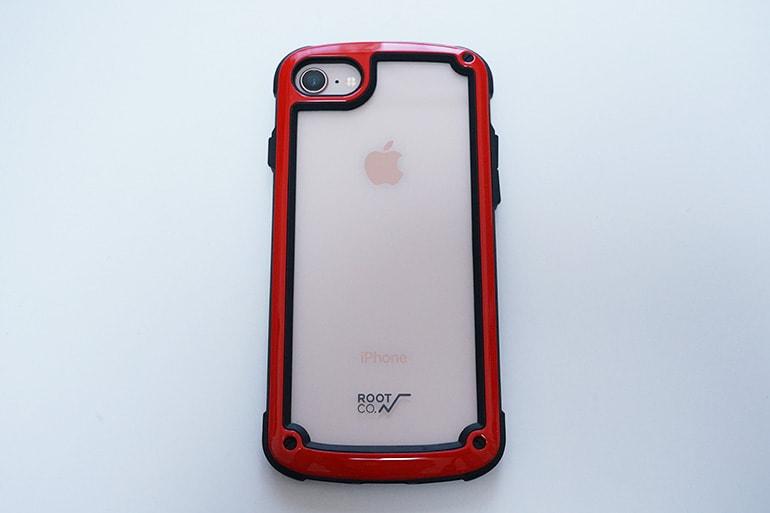 【ROOT CO.】Gravity Shock Resist Tough & Basic Case.をiPhone8に装着したところ