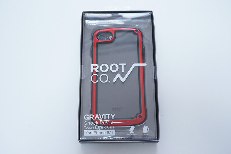 【ROOT CO.】Gravity Shock Resist Tough & Basic Case.のパッケージ