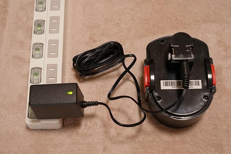 エアホークプロのバッテリーが充電完了