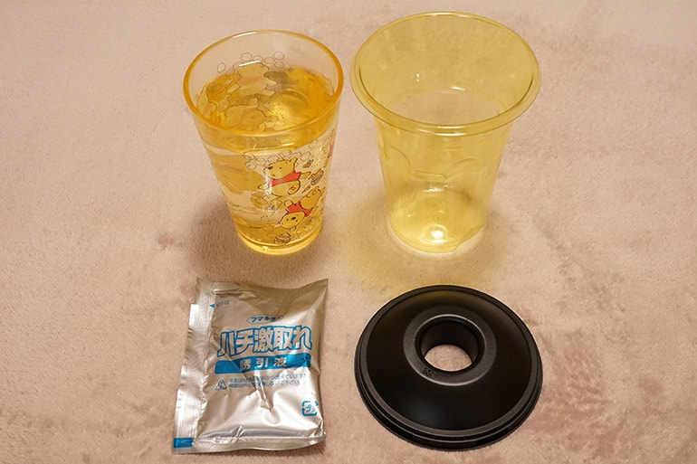フマキラーのハチ激取れの中身と使う水