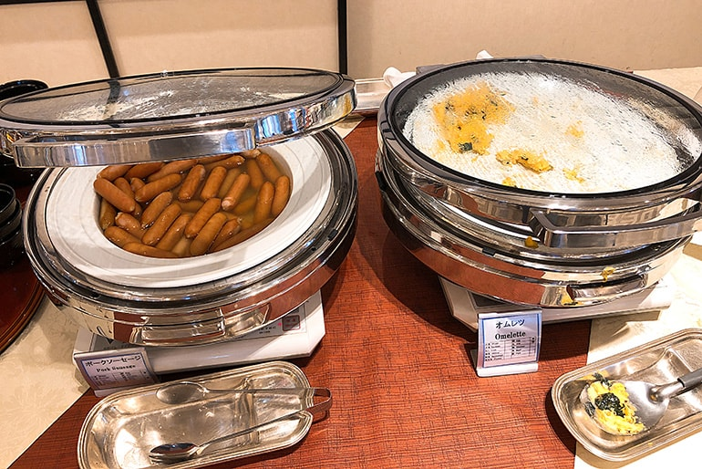 ホテルモントレラ・スール大阪の朝食(洋食)