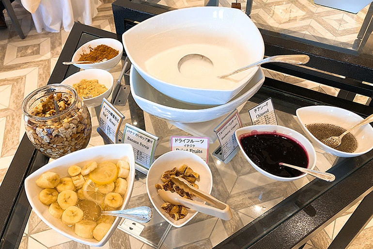 ホテルモントレラ・スール大阪の朝食(デザート類)