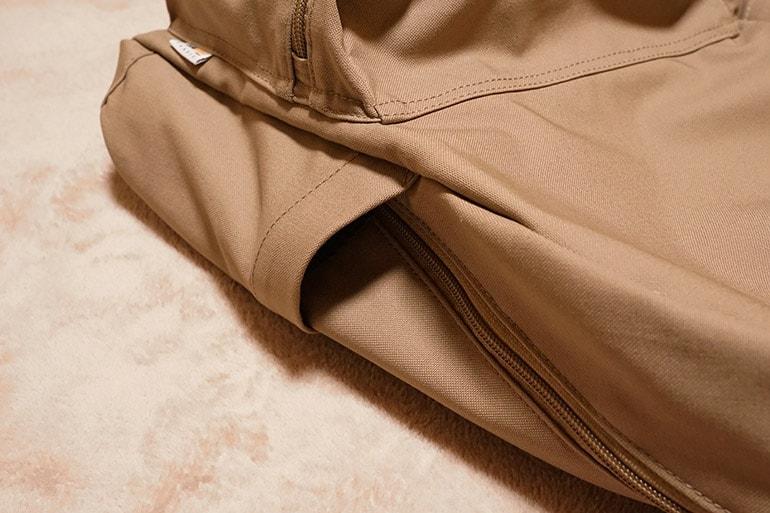 ユニクロのリュックのサイドポケット