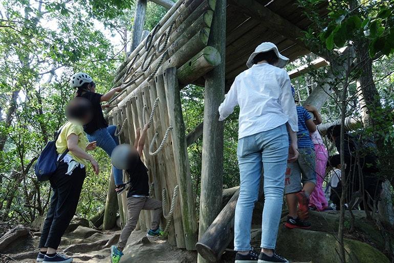 生駒山麓フィールドアスレチック「下鳥見・中鳥見・上鳥見の見張り台のぼり(上町)」その1
