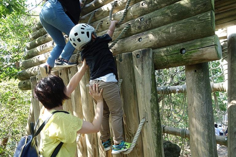 生駒山麓フィールドアスレチック「下鳥見・中鳥見・上鳥見の見張り台のぼり(上町)」その2