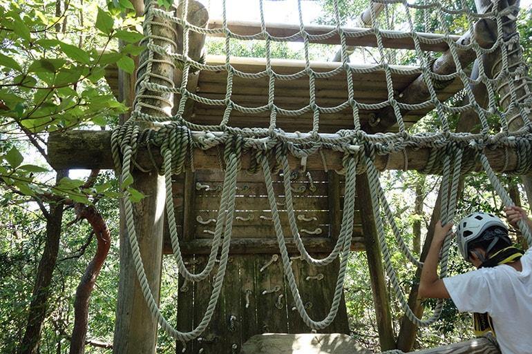 生駒山麓フィールドアスレチック「下鳥見・中鳥見・上鳥見の見張り台のぼり(上町)」その3