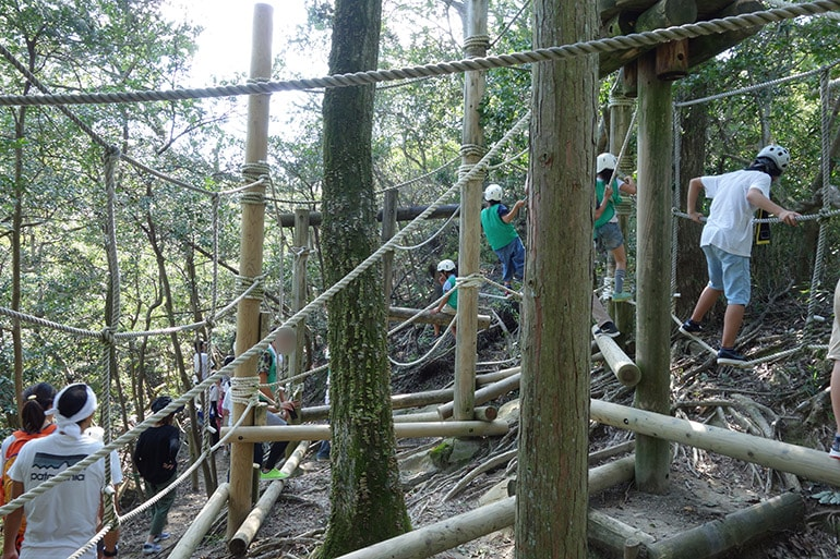 生駒山麓フィールドアスレチック「磐船神社・梅の木わたり(交野市私市)」その2