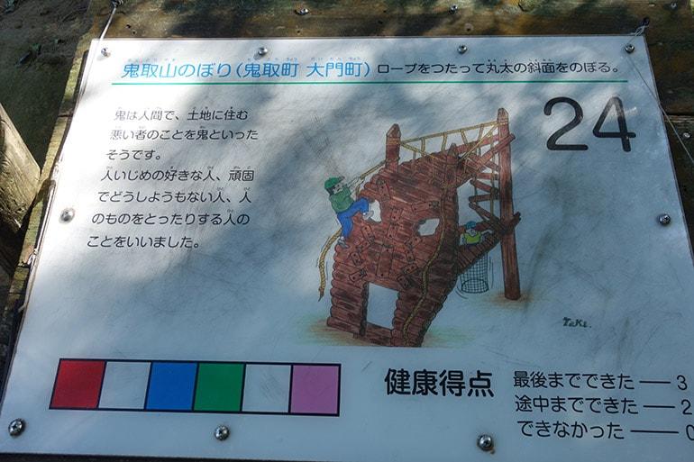 生駒山麓フィールドアスレチック「鬼取山のぼり(鬼取町 大門町)」案内板