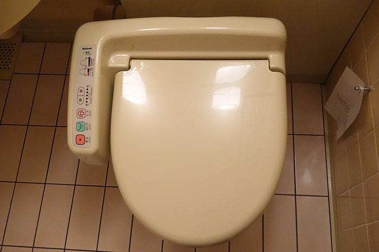 新阪急ホテルの客室のトイレ