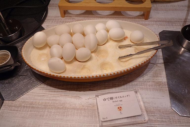 オリンピアの朝食バイキング「ゆで卵」
