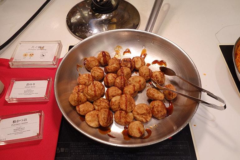 オリンピアの朝食バイキング「たこ焼き」