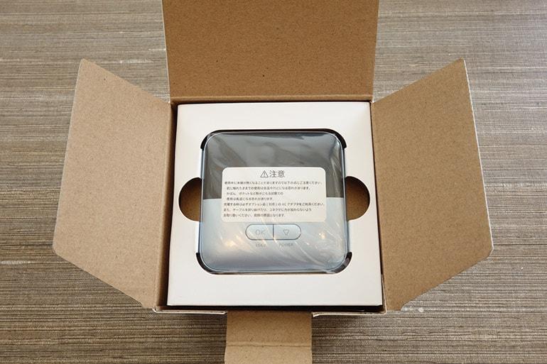 Yahoo!wifiのルーター「601ZT」の梱包を開けたところ