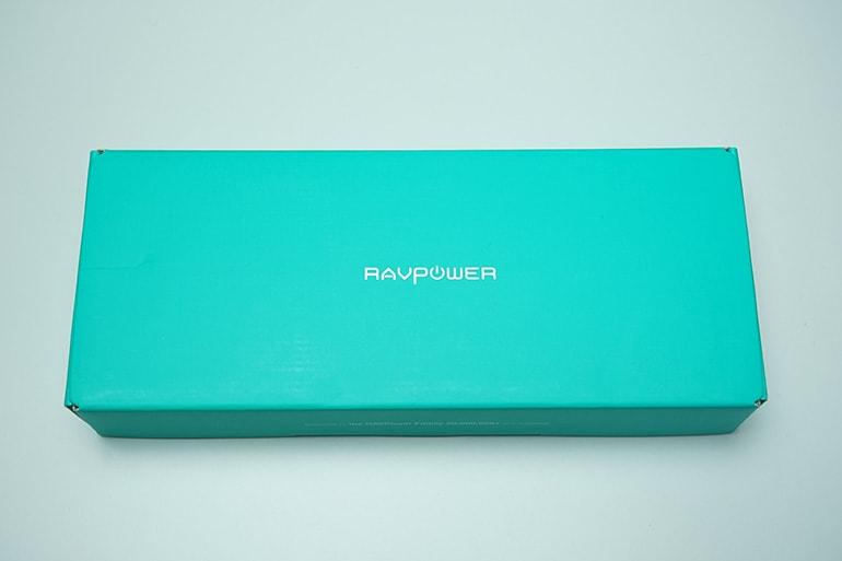 RAVPOWER ソーラーモバイルバッテリー 25000mAhの外箱