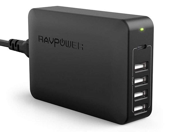 RAVPower_USB-C_60W充電器 5ポート
