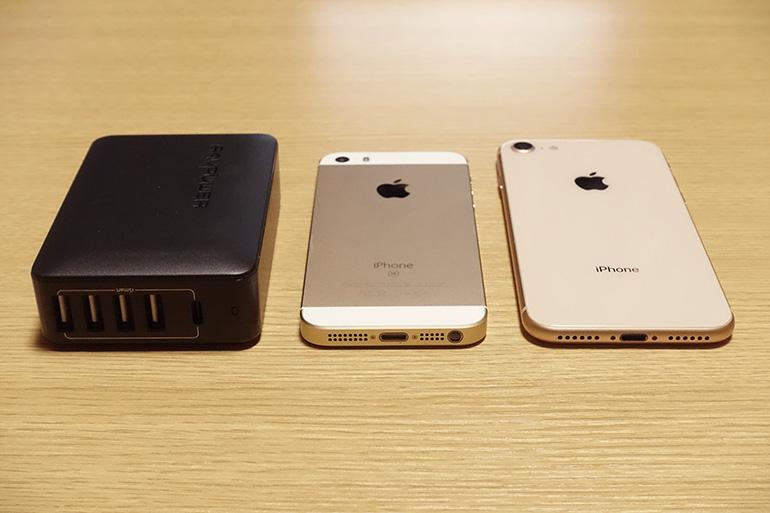 RP-PC059とiPhoneの厚み比較