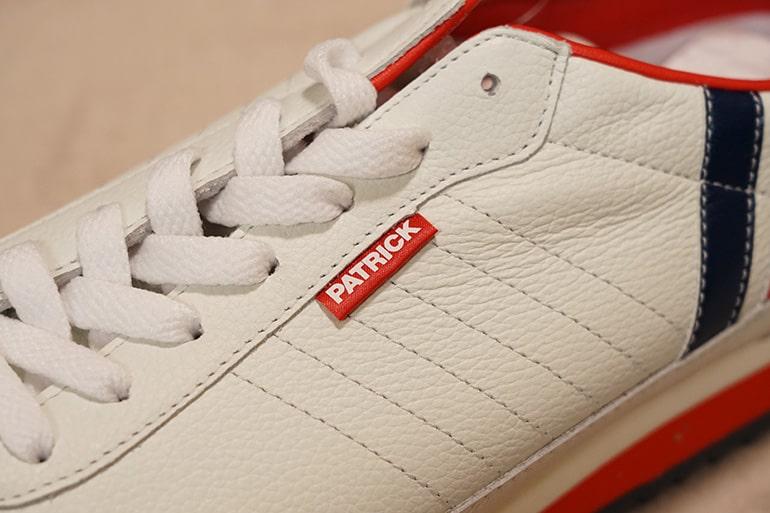 パトリック マラソンレザーの靴紐部分