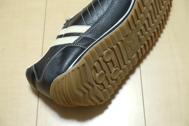 ソールを張り替えたパトリックマラソンレザーの靴底