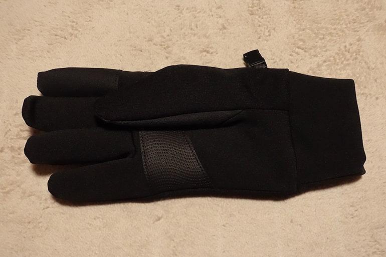 セブンイレブンのスマホ対応手袋(手のひら側)