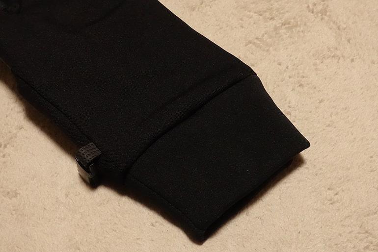 セブンイレブンのスマホ対応手袋のリブ