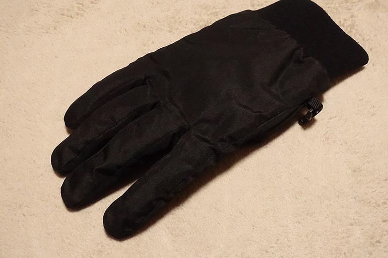 セブンイレブンのスベリ止め付き中わた手袋の生地