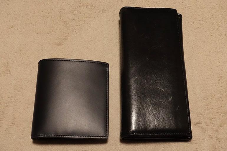 無印良品の二つ折り財布と長財布