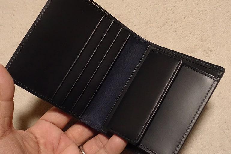 無印良品の二つ折り財布の内側