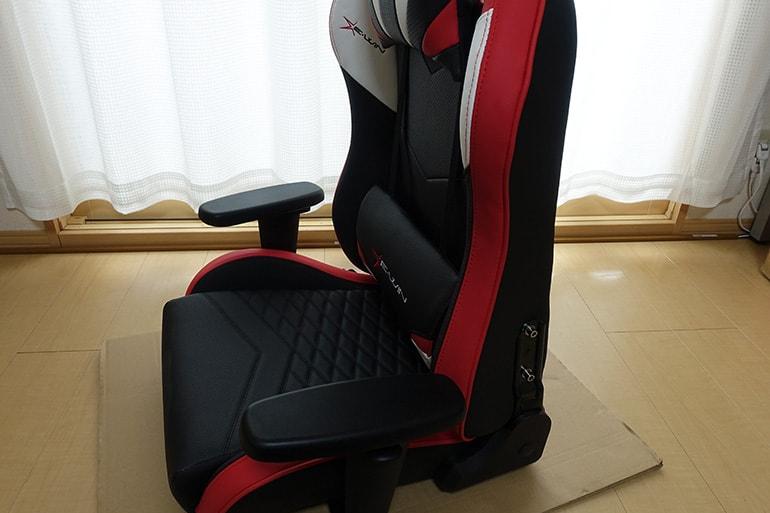 E-WINのD9の座面に背もたれを装着