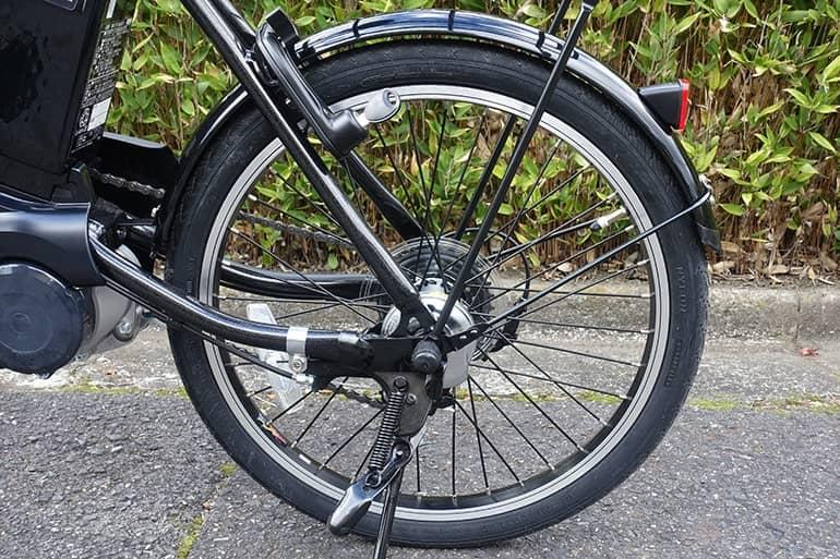 パナソニックのベロスターミニの後輪タイヤ