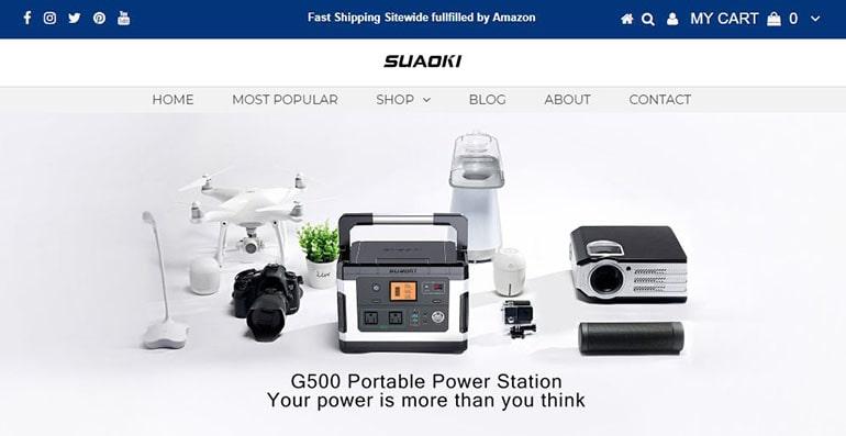 Suaoki公式サイト