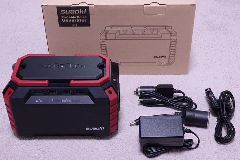 Suaoki Portable Power Station S270の内容物