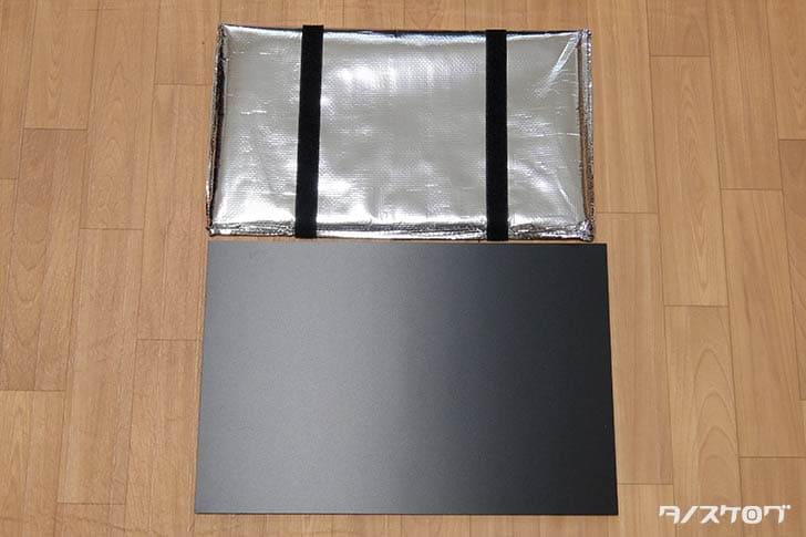 塩ビ板とウバッグの底板